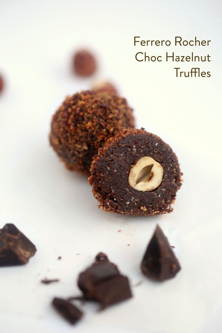 Healthy Homemade Ferrero Rocher Chocolate Hazelnut Truffles - only 10 ingredients, perfect with a cup of tea - #vegan #dairyfree #refinedsugarfree #lowsugar #glutenfree