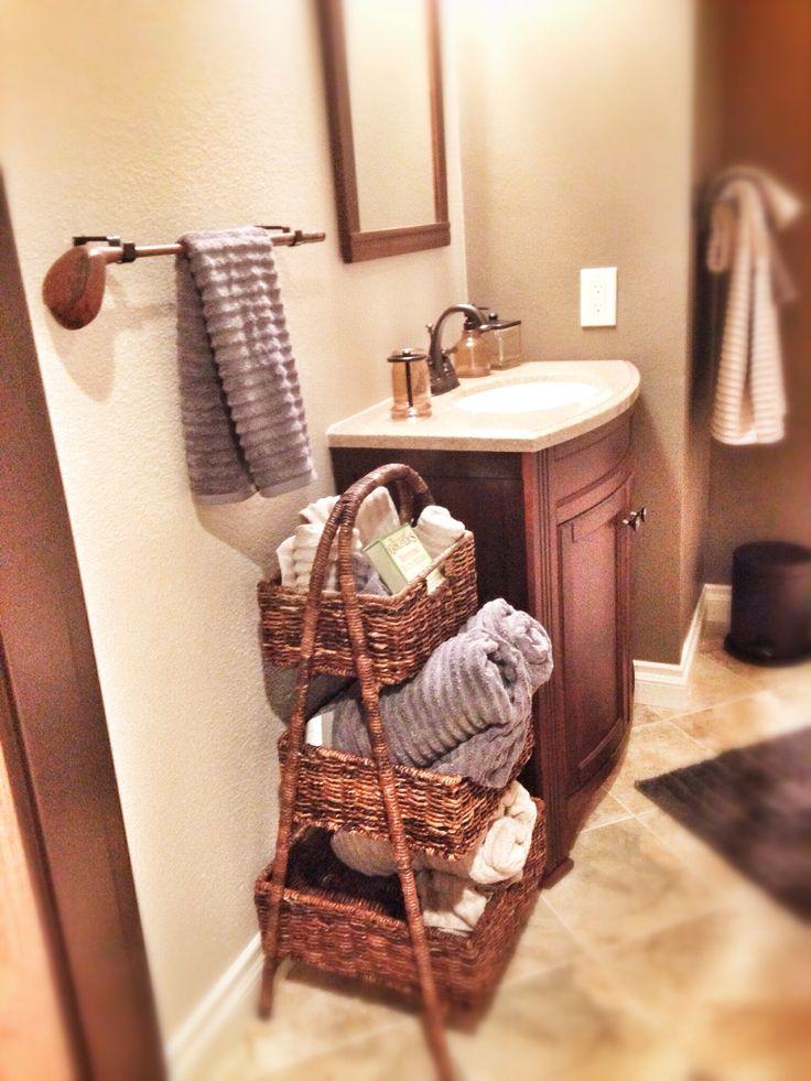 Golfer's Man Cave for the Boss Man. Alternative towel bar: use an antique golf club.  #golf #decor #mancave #golfclub #diy #bathroom  Designer: Janna Mascarin