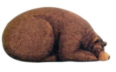 Sleeping Grizzly Bear Bean Bag - 11 Creative and Cool Bean Bag Designs (15) 2