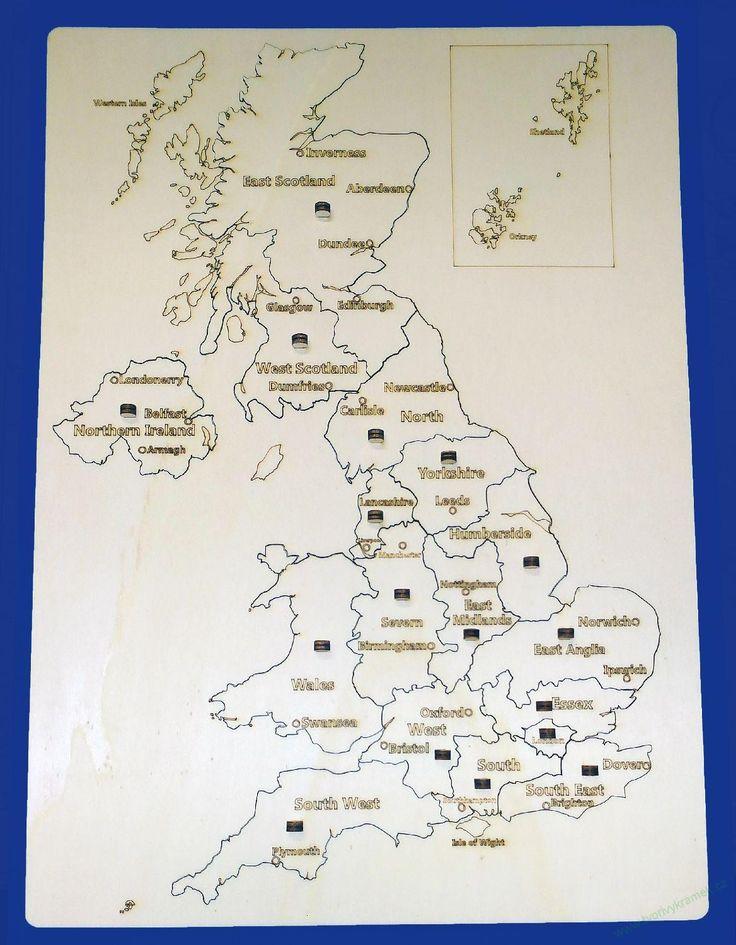 Vkládačka mapa GB