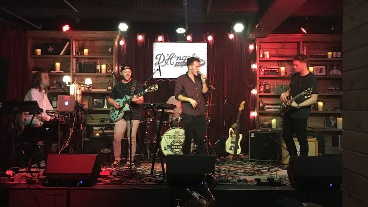 Catch a Breat at AMS with Mojave Nomads | AMS and Reverb Nation hosted the Catch a Break contest at the D'Angelico Guitar showroom. The Winners were Mojave Nomads a band from Ogden, Utah.