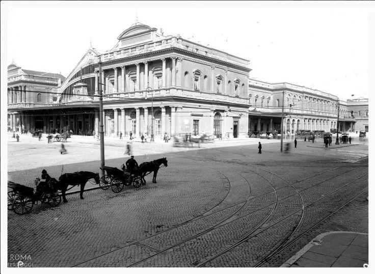 Vecchia Stazione Termini lato Via Giolitti anni '30