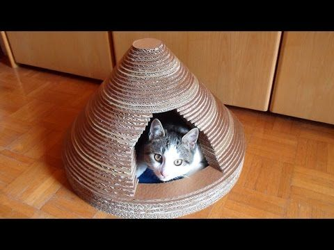 How To Build a Cardboard Cat House - DIY Home Tutorial - Guidecentral - YouTube