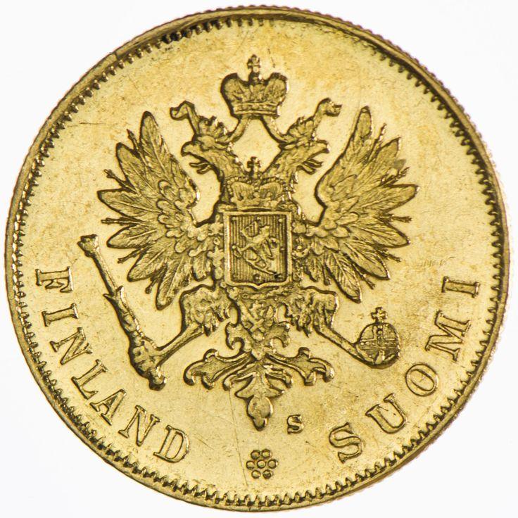 Nikolaus II. 1894 - 1917 10 Markkaa Gold Finnland