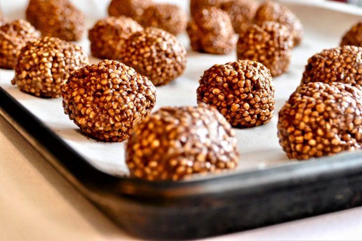 Boules au quinoa soufflé, chocolat, avocat et banane | La popote d'une mère poule un peu dingue