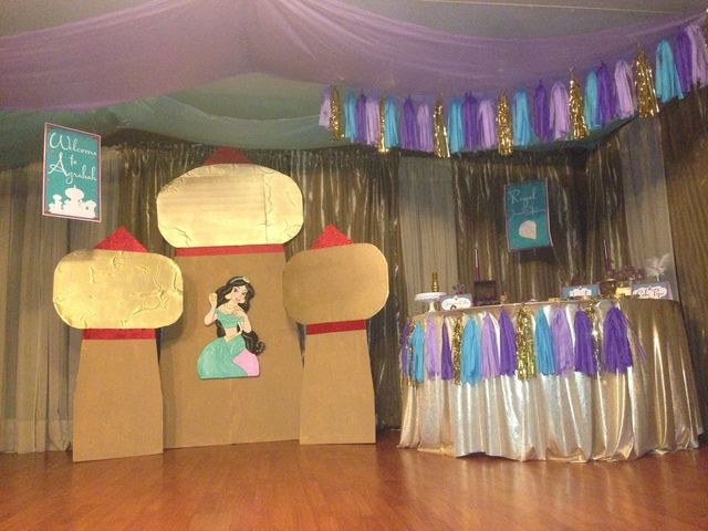 Princess jasmine birthday party ideas birthdays for Aladdin decoration ideas