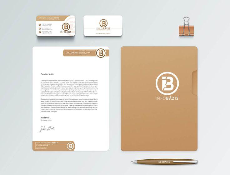Info Bázis kisarculat, letisztult design.  Arculattervezési szolgáltatásaink: http://bfdesign.hu/arculattervezes/
