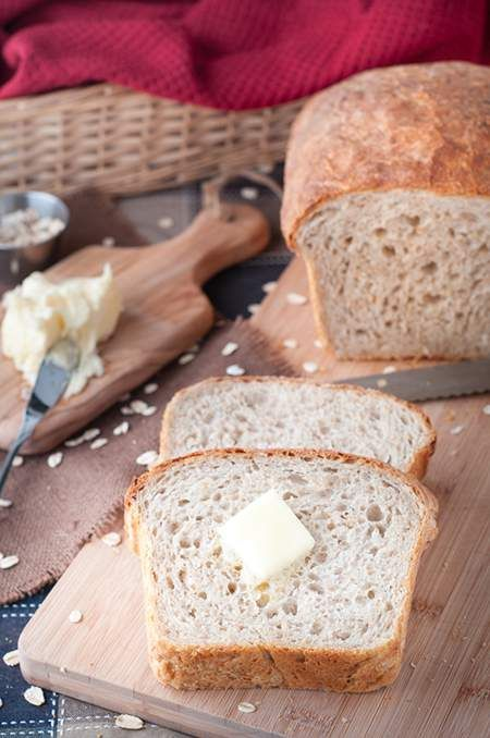 Chef Michael Smith's country bread is our favourite loaf of bread to bake at home! It's easy to make, almost no prep time & it's healthy! Can you smell it?