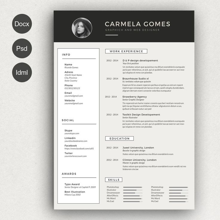 145 besten Graphic Design | Print | Resume / CV / Self Promotion ...