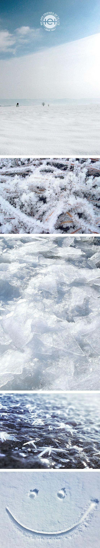 """Brrrrrr, die Kälte lässt Gesichtszüge erstarren. Aber dennoch kann sich mein Lächeln beim Betrachten der filigranen Kunstwerke von """"Väterchen Frost"""" durchsetzen :-)"""