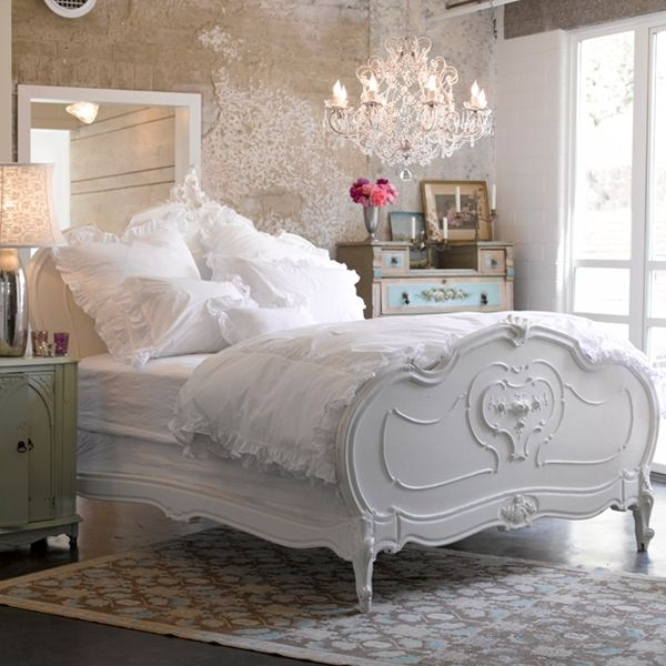 Bed & Chandelier
