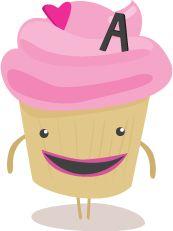 Sweet cupcake graphic