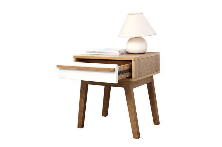 Table de chevet design scandinave HELIA - Miliboo