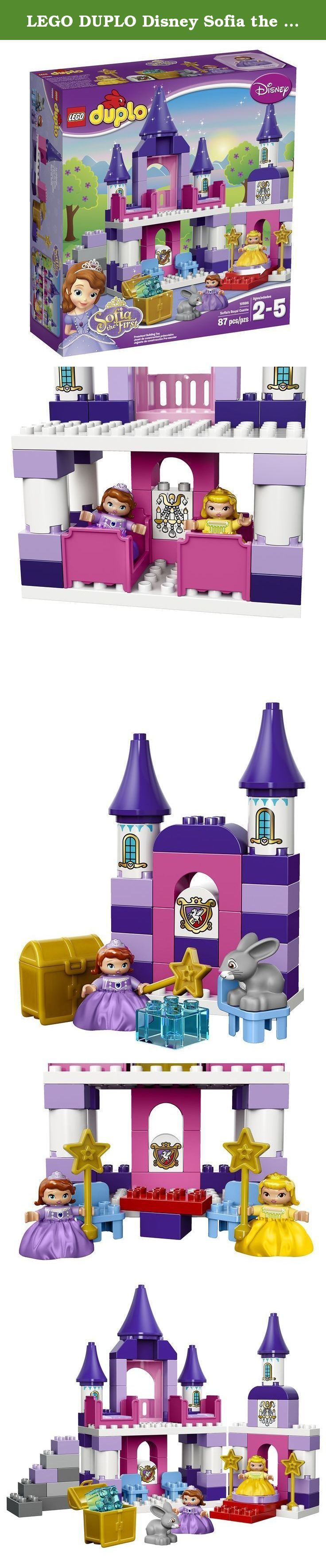 LEGO DUPLO Disney Sofia the First Royal Castle 10595. Enjoy countless royal adventures in Princess Sofia's magical world with the Disney Sofia the First Royal Castle! Sofia and her stepsister, Princess Amber, love to explore in their royal castle, where princess fun and magical surprises await around every corner! Play with Clover the rabbit in the throne room and discover the treasure chest in the basement, before dancing the night away on the revolving dance floor. Then help Sofia and...