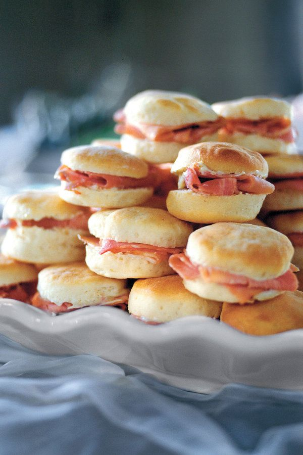 Yeast biscuits—also called angel or bride's biscuits—hold together well, so they're a good choice to serve at gatherings. The so-Southern combination of ham and biscuits is always a hit!Recipe: Ham-Stuffed Biscuits With Mustard Butter