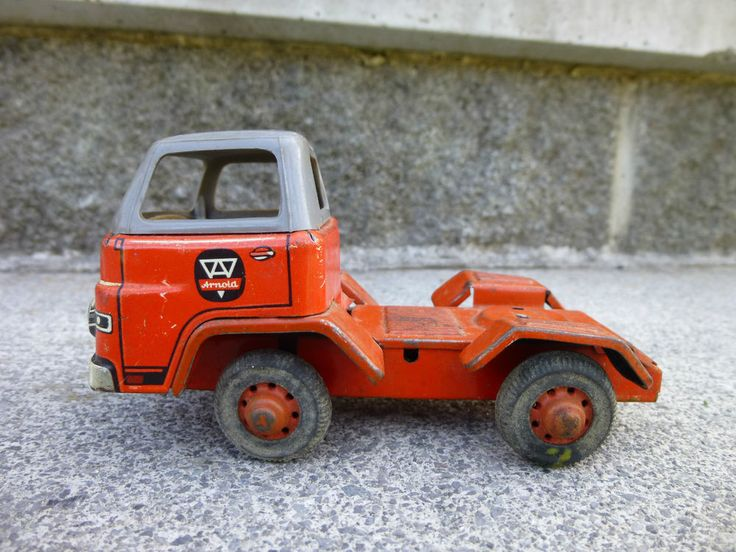 Vintage Arnold Man Diesel Tin Friction Toy Truck Tractor Cab Western Germany #Arnold