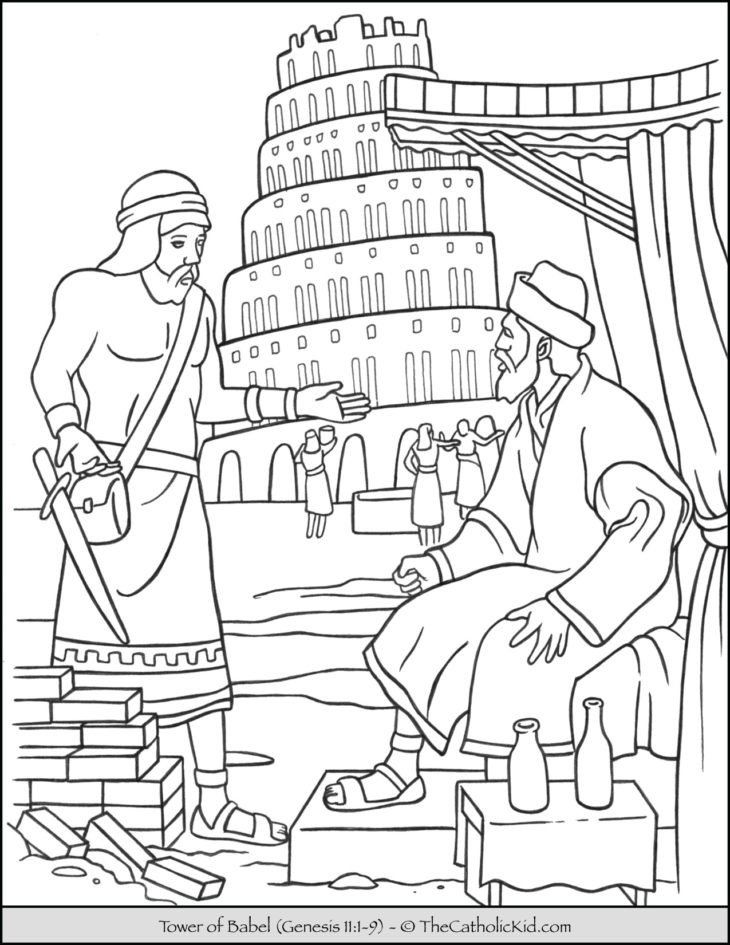 Tower Of Babel Coloring Sheet Babel Archives The Catholic Kid Catholic Coloring Pages In 2020 Bible Coloring Pages Tower Of Babel Bible Coloring