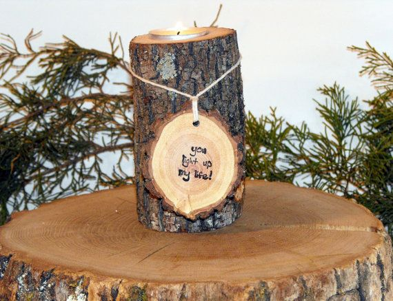 Rustic Candle Holder, You light up my life/ Tree Branch Candle Holders, Rustic Wedding Centerpieces, Wood Candle Centerpieces