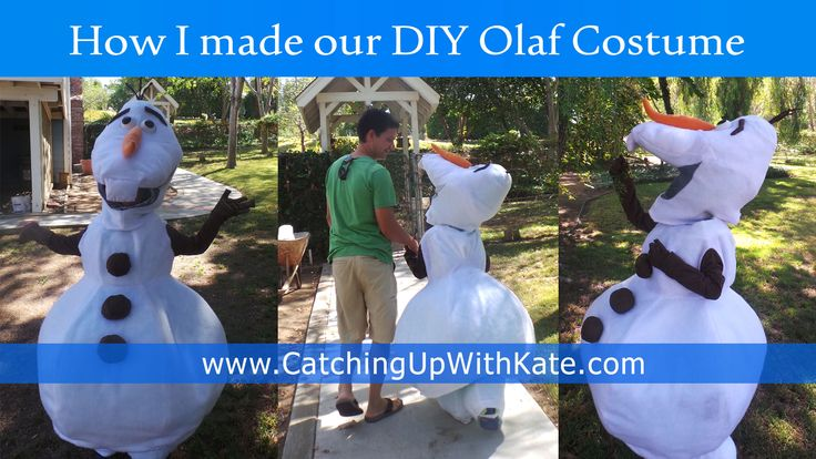 Everyone is asking for my husband's DIY Olaf Costume Instructions.  Here is a summarized step by step guide to get you started on your own Olaf Costume!