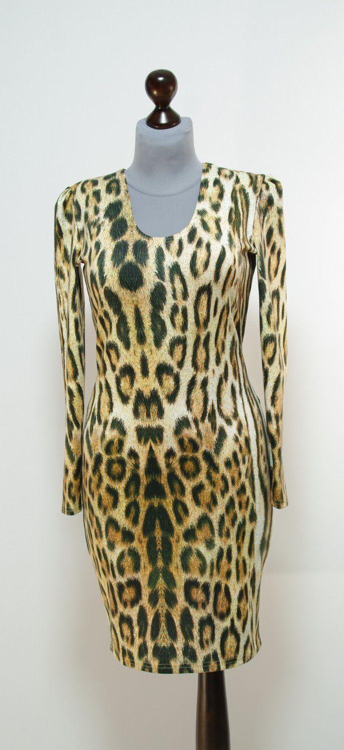 Платье с крупным леопардовым принтом | Платье-терапия от Юлии