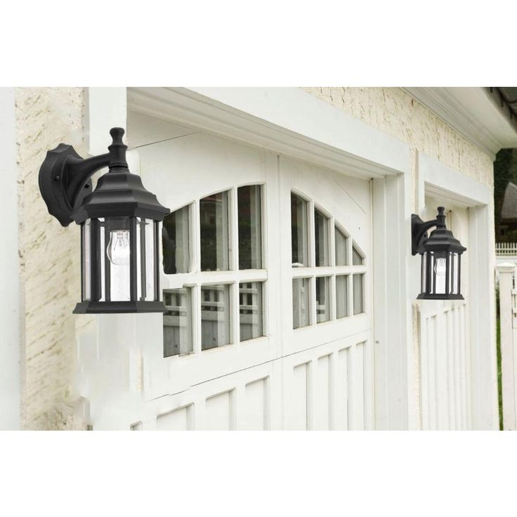 1light black outdoor lantern with clear beveled glass black lanternhome