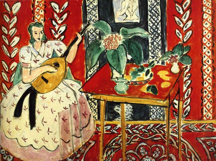Henri Matisse (1869-1954)   Le lute/The Lute, 1943, oil on canvas, 79.5 x 59.5 cm. Private Collection