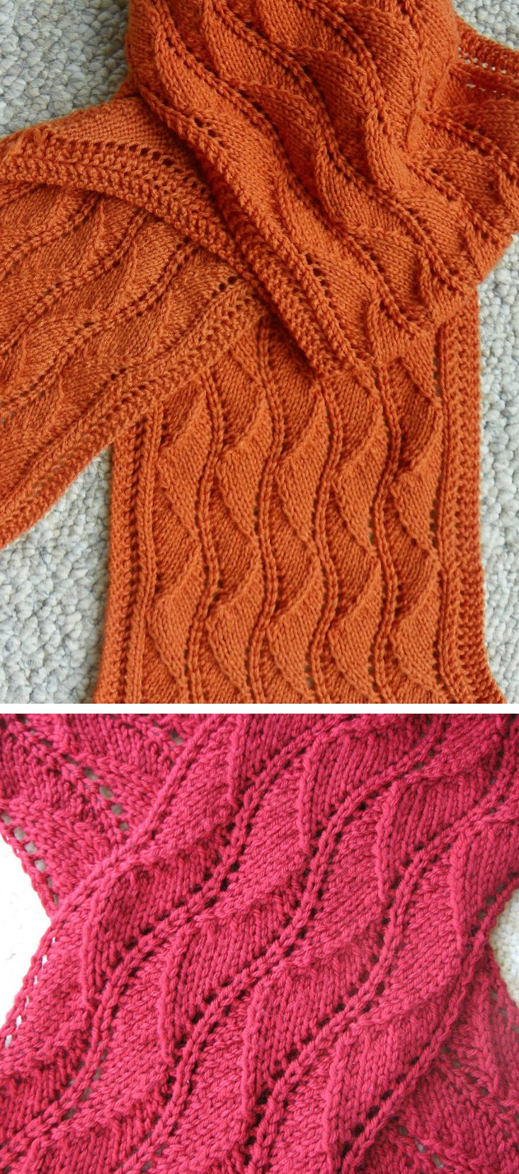 1102 best knit crochet images on pinterest basket carpets and free knitting pattern for ballet lace scarf an all over lace pattern is mirrored in bankloansurffo Images