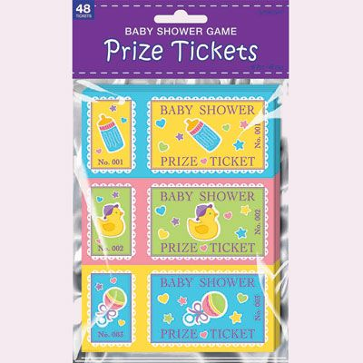 baby shower prize ticket game 48ct shower prizes fun games and baby