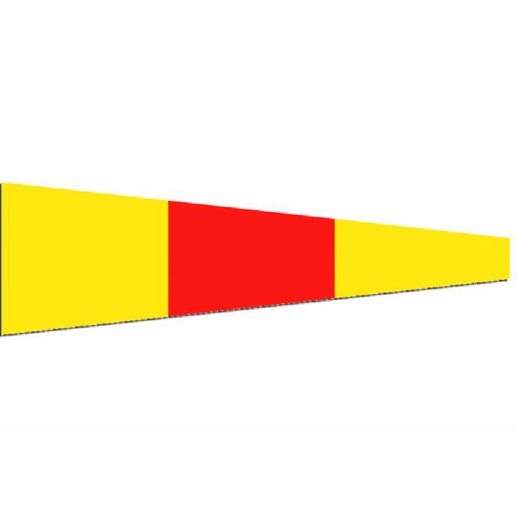 Seinwimpel 0 20x24cm (werkelijk formaat is 20x70cm) De Seinvlag nul Materiaal Pavillon, rondom gezoomd met koord en lus, hoogste kwaliteit. Bestel al je seinvlaggen seinwimpels en andere nautische vlaggen voor aan boord voordelig bij Vlaggenclub