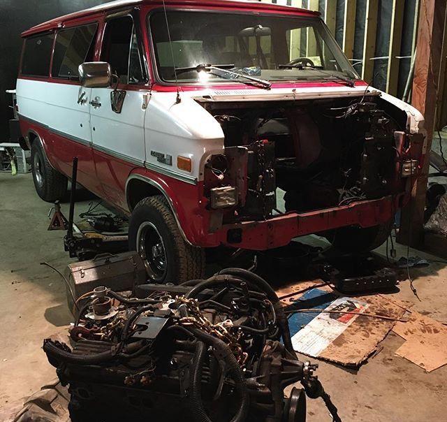GMC EFI engine pull