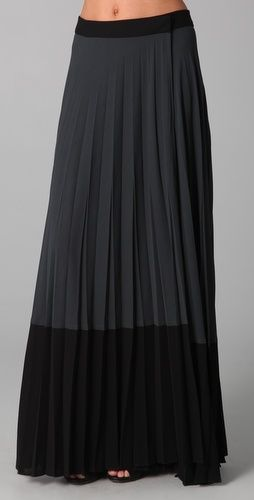 Two tone Maxi skirt: Black Pleated, Clothing, Long Skirts, Black Maxi Skirts, Black Skirts, Maxi Skirts Style, Pleated Maxi Skirts, Black Love, Pleated Skirts