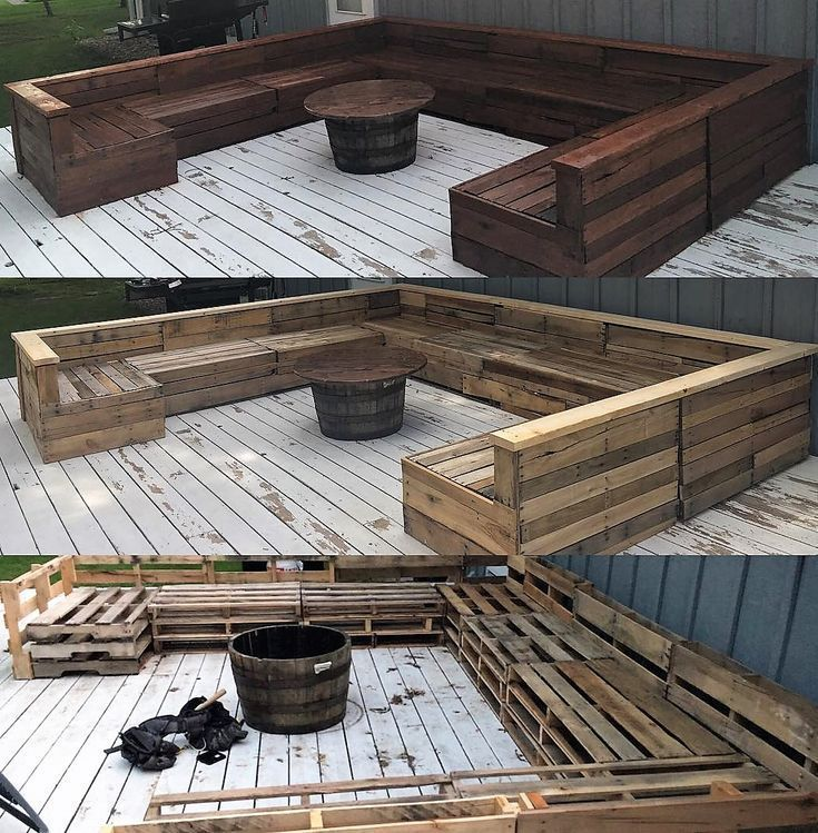 Pallet Made Outdoor Giant Couch Set Diy Garden Furniture Pallet