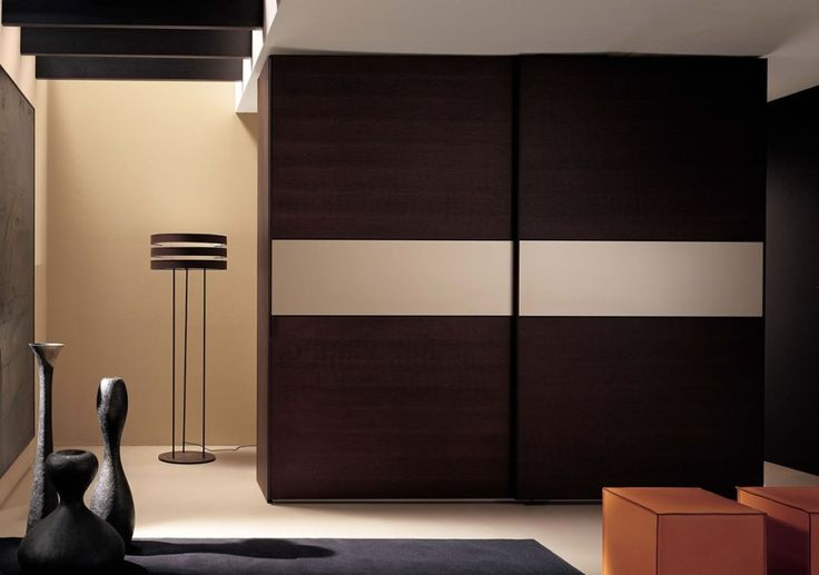 Furniture: Modern Wardrobe Armoire With Dark Color And Smoot Grey Accents At The Middle For Stylish Bedroom Furniture Ideas: Contemporary Wardrobe Armoire Design For Stylish People #wardrobe #armoire