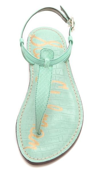 mint green Sam Edelman Gigi Thong Sandals