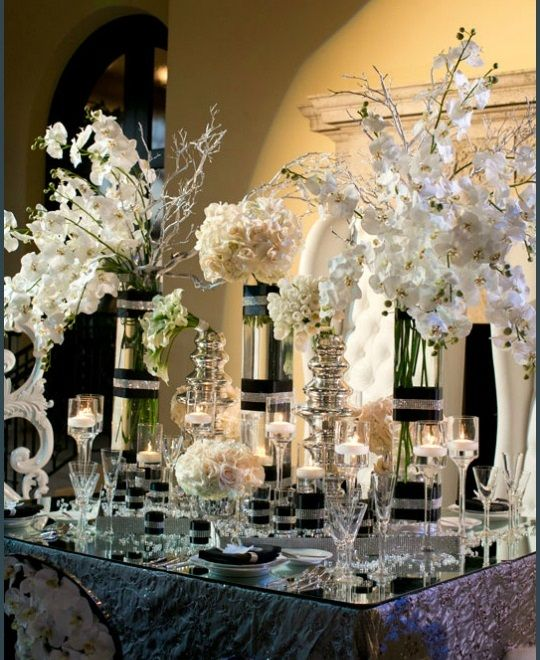 Crystal And White Wedding Theme: Top 25 Ideas About Black White And Silver Wedding Ideas On