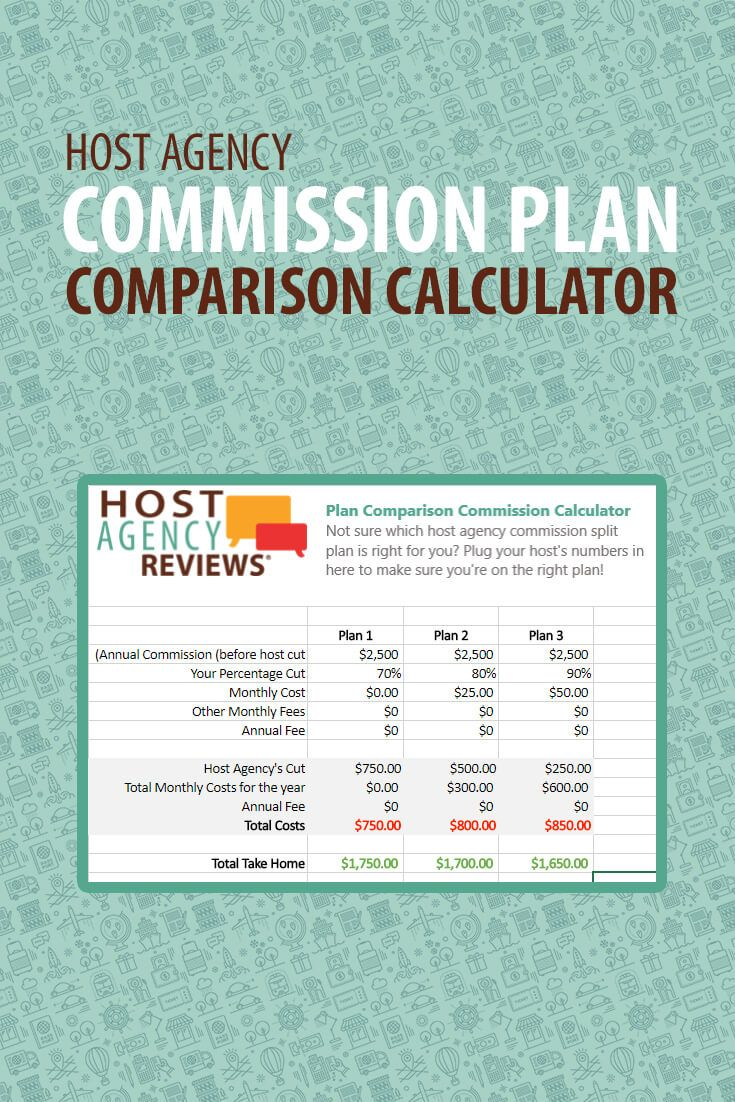 Host Agency Commission Plan Comparison Calculator Infographic