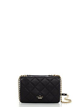 our emerson place vivenna is both sleek and chic, thanks to its classic look (quilted leather, a flap closure and a golden-toned chain strap) and adaptability. wear it over your shoulder for a more ladylike silhouette, or switch to a cross-body carry when you're on the go.