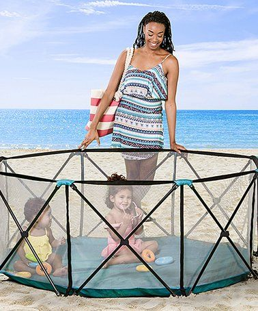 Loving this My Play Eight-Panel Indoor/Outdoor Portable Playpen on #zulily! #zulilyfinds