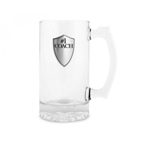 Details 'Number 1 Coach' Glass Beer Mug Capacity: 500ml Gift Boxed  ENGRAVING Please contact us for an engraving quote.  #trophies #coaches #awards