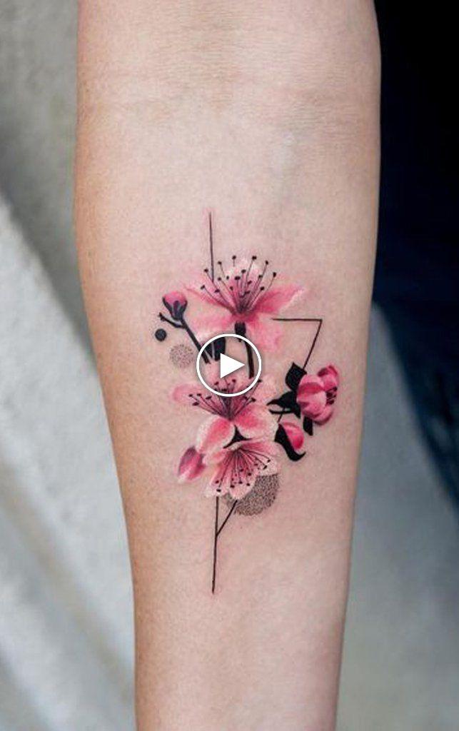 Beautiful Delicate Watercolor Cherry Forearm Tattoo Ideas For Women Ideas Flowertattoos Forearm Flower Tattoo Tattoo Designs For Women Forearm Tattoo Women