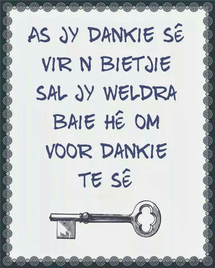 Dankie sê