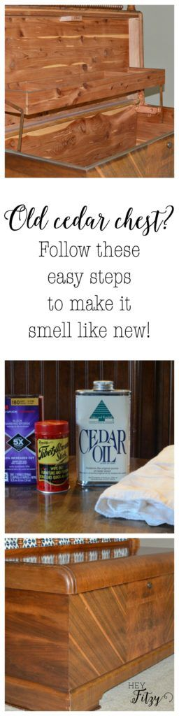 Smell like moth balls?  Follow these easy steps to make your old cedar chest smell like new again!