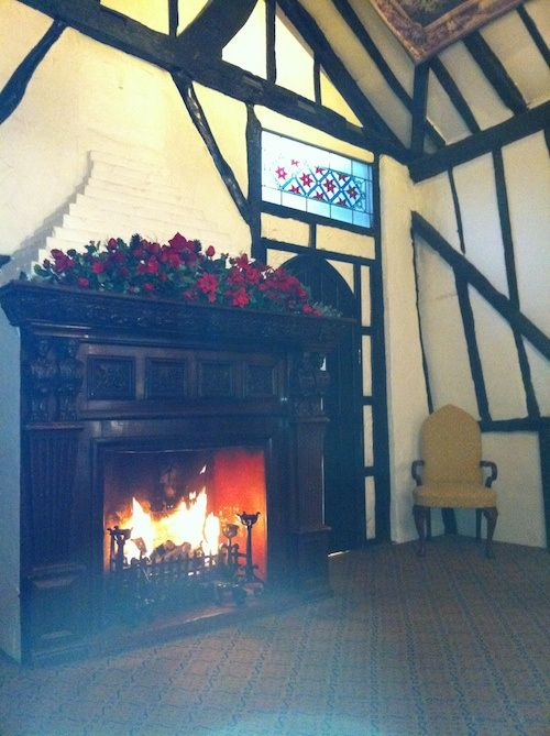 Barn Hotel, Ruislip / Oh wouldn't you like to be there on a brusque winter day! To come in from a walk and sit beside the fire and maybe have a cuppa. Sounds good to me!  / © LoveToEatAndTravel.com