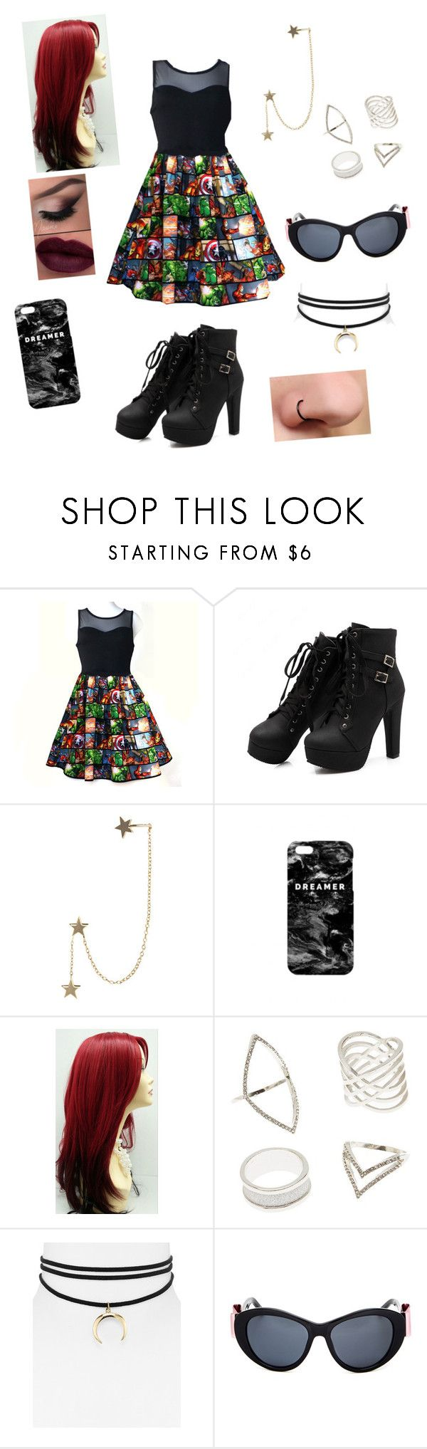 """""""Under $100 Dress"""" by maddiehale ❤ liked on Polyvore featuring Zimmermann, Mr. Gugu & Miss Go, Charlotte Russe, Jules Smith and Linda Farrow"""