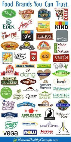 Food infographic  A list of some food brands you can trust.  Big Food brands like General Mills K