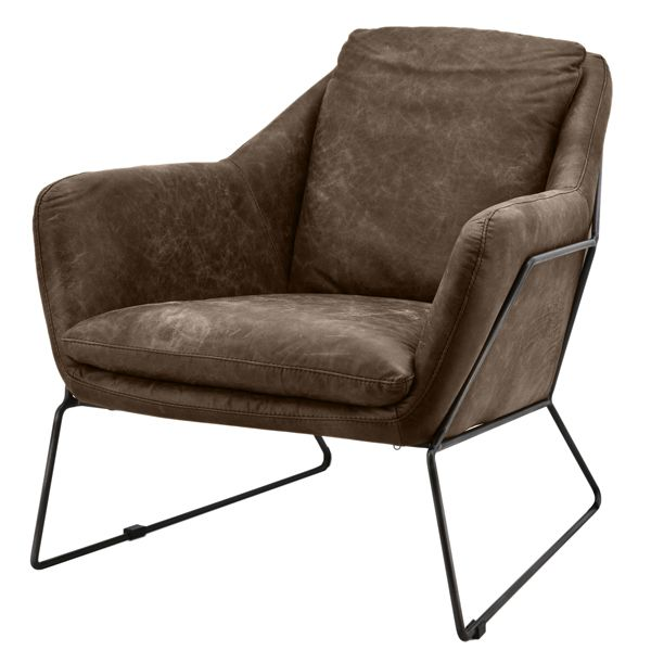 Lounge Sessel Echt Leder Schwarz ~ Leder Auswahl · 1 x Polstersessel Relaxsessel ANTONIO Vintage Leder