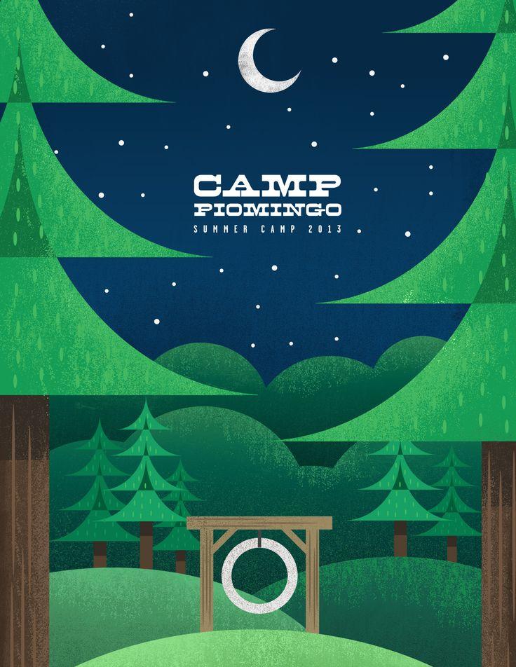 Spalding Design // Camp Piomingo Summer Camp Poster // Camp Piomingo // Andrew Spalding, Illustrator
