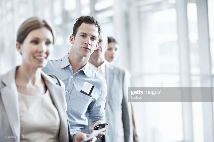 Stock Photo : Waiting in a boarding queue