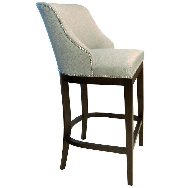 Curved Wing Back Dining Stool