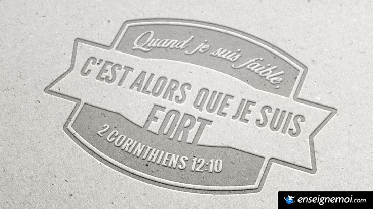 2 Corinthiens 12:10